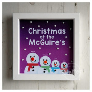 Personalised Snowman Family Christmas Frame