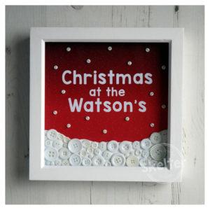 Christmas Snowscene Personalised Family Name Frame
