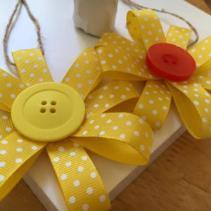Daffodil Button Blooms Hanging Ornament