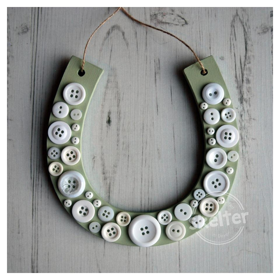 Large Hanging Button Horseshoe Wedding Gift