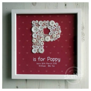Large Red Personalised Hearts Name Frame