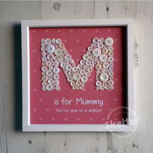 M Is For Mummy Mothers Day Present Button Frame