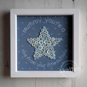 Mummy You're A Star Button Frame