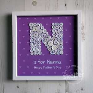 N Is For Nanny Mother's Day Present Button Frame