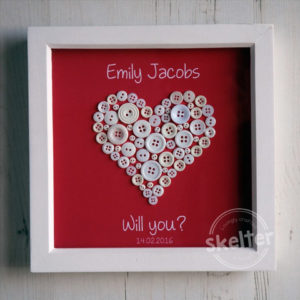 Propose To Her Button Heart Frame