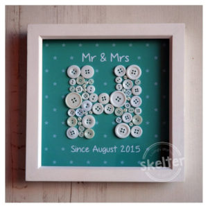 Small Personalised Teal Mr & Mrs Frame With Stars