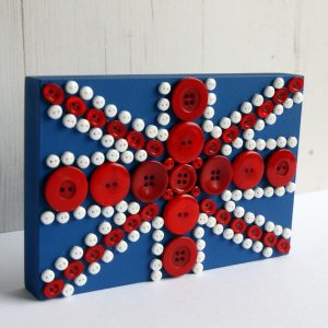 Freestanding button Union Jack flag