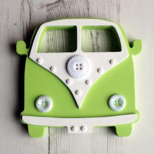 Green freestanding button campervan