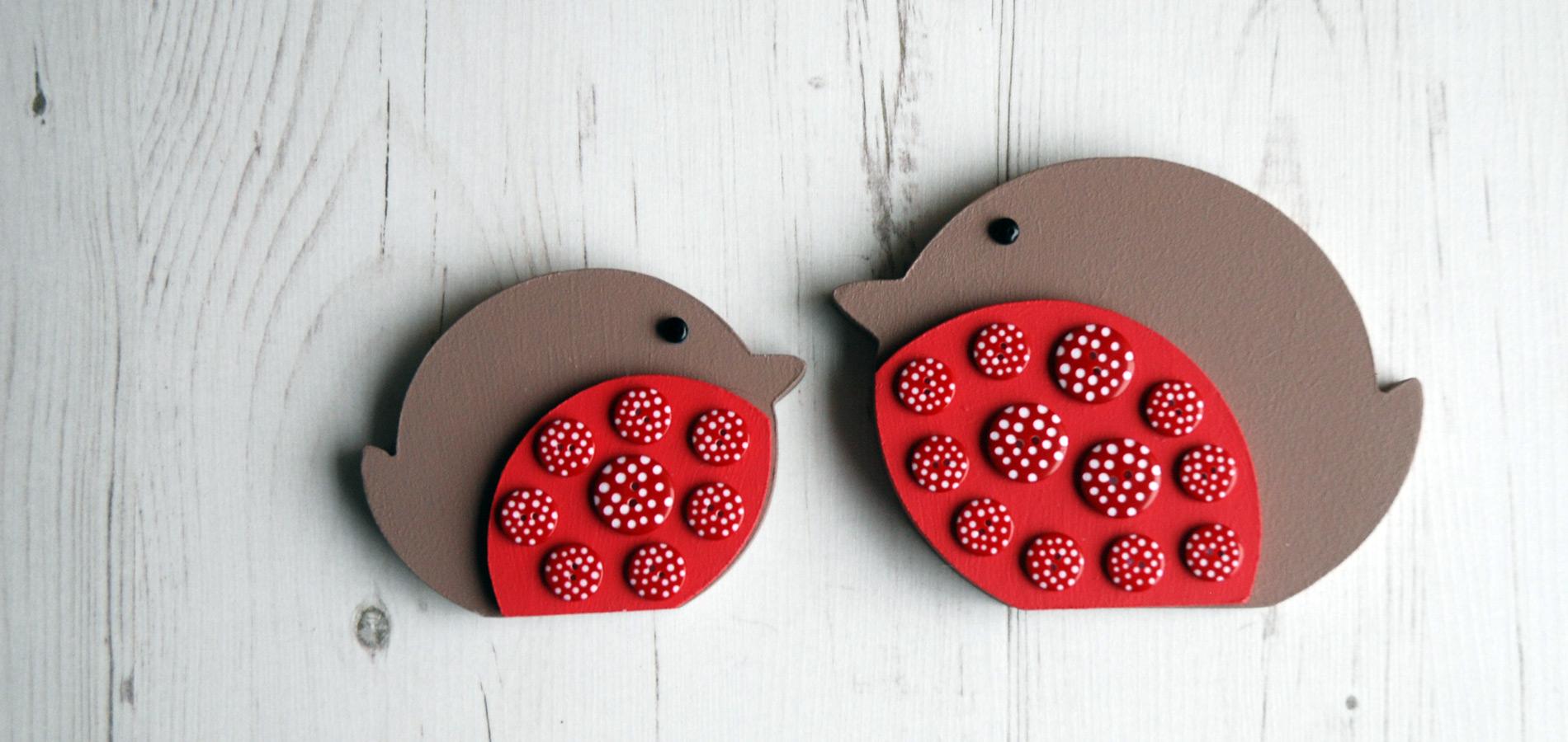 Our gorgeous button robin family